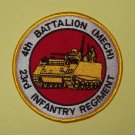 United States ARMY 23rd Infantry Regiment 4th Battalion (MECH) Military Patch