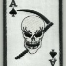 ACE OF SPADES DEATH CARD SKULL REAPER MOTORCYCLE JACKET BIKER MILITARY PATCH