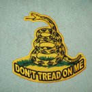 LARGE BACK PATCH DON'T TREAD ON ME SNAKE MOTORCYCLE BIKER JACKET VEST MILITARY