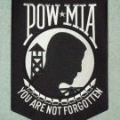 BACK PATCH US ARMED SERVICE POW MIA YOU ARE NOT FORGOTTEN BIKER JACKET MILITARY