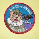 "B-4-123rd AVIATION REGIMENT FLIGHT ""SUGAR BEARS"" CH-47 MILITARY PATCH"