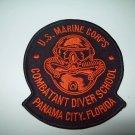 **USMC COMBATANT DIVER SCHOOL MILITARY PATCH PANAMA CITY, FLORIDA (RARE)**