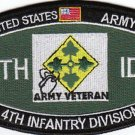 ARMY 4th INFANTRY DIVISION MOS MILITARY PATCH ARMY VETERAN 4TH ID