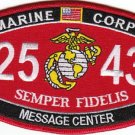 "USMC ""MESSAGE CENTER"" 2543 MOS MILITARY PATCH SEMPER FIDELIS MARINE CORPS"