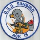 USS SUNBIRD ASR-15 SUBMARINE RESCUE SHIP MILITARY PATCH