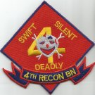 UNITED STATES MARINE CORPS 4th RECONBATTALION SWIFT SILENT DEADLY MILITARY PATCH