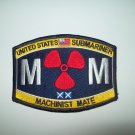 United States Submariner Machinist Mate Ratings Military Patch  -  MM