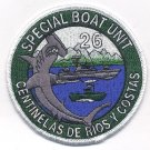 US Navy Special Boat Unit 26 Hammerhead Shark Military Patch CENTINELAS DE RIOS