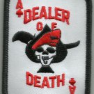 ACE OF SPADES DEALER OF DEATH CARD VETERAN BIKER MOTORCYCLE MILITARY PATCH