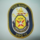DDG-71 USS Ross Military Patch Guided Missile Destroyer
