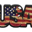 VINTAGE STYLE USA AMERICAN FLAG MOTORCYCLE BIKER LEATHER JACKET VEST PATCH
