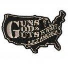 GUNS GOD & GUTS BUILT AMERICA MOTORCYCLE JACKET VEST MORALE BIKER MORALE PATCH