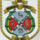 NAVY USS MONMOUTH COUNTY LST 1032 Tank Landing Ship Military Patch EVER READY