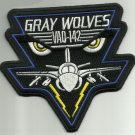 NAVY ELECTRONIC ATTACK AIRCRAFT SQUAD EA-6B GRAY WOLVES MILITARY PATCH VAQ-142