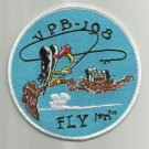 NAVY VPB-198 AVIATION PATROL BOMBER SQUADRON ONE NINE EIGHT MILITARY PATCH FLY