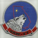 NAVY VAW-77 CARRIER AIRBORNE EARLY WARNING SQUADRON MILITARY PATCH NIGHTWOLVES
