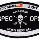 ARMY Special Operations HAT Shoulder Military Patch SPEC OPS NOUS DEFIONS