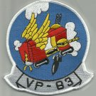 NAVY AVIATION PATROL SQUADRON EIGHTY THREE VP-83 MILITARY PATCH FLYING BOX CARDS
