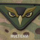 OWL HEAD MULTICAM OIF COMBAT TACTICAL BADGE MORALE 3D PVC VELCRO MILITARY PATCH