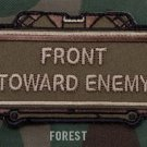FRONT TOWARD ENEMY FOREST TACTICAL BLACK OPS BADGE MORALE VELCRO MILITARY PATCH