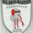 ARMY - 9th INFANTRY DIVISION ARTILLERY AVIATION SECTION SNOWSNAKE MILITARY PATCH