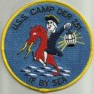 DER-251 USS CAMP Destroyer Escort Radar Picket Ship Military Patch IF BY SEA