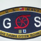 "US NAVY ""GAS TURBINE SYSTEM TECHNICIAN"" MILITARY PATCH - GS Ratings"