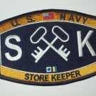 United States Navy STORE KEEPER Ratings Patch - SK - Military Patch