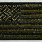 SUBDUE OLIVE AMERICAN FLAG MOTORCYCLE BIKER JACKET VEST MORALE MILITARY PATCH
