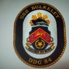 DDG-84 USS BULKELEY Guided Missile Destroyer Military Patch SECOND TO NONE