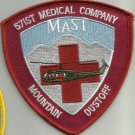 US ARMY 571st Medical Company DUST OFF Military Patch MAST MOUNTAIN DUSTOFF