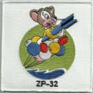ZP-32 US NAVY Aviation Airship Patrol Squadron 32 Military Patch FLYING MOUSE