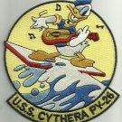 USS CYTHERA PY-26 NAVY PATROL YACHT MILITARY PATCH DONALD DUCK WWI & WWII
