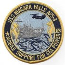 USS NIAGARA FALLS AFS-3 MARS CLASS COMBAT STORES MILITARY PATCH MOBILE SUPPORT