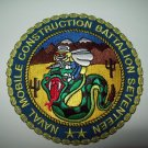 NAVAL MOBILE CONSTRUCTION BATTALION SEVENTEEN NMCB-17 SEABEES MILITARY PATCH
