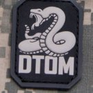 DTOM Don't Tread on Me Snake PVC Velcro Military Morale Patch - SWAT