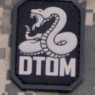 DTOM Don't Tread on Me Snake PVC Velcro Military Morale Patch - SWAT