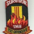 SURVIVOR TET OFFENSIVE 1968 BIKER MILITARY PATCH
