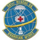 United States Air Force 301st Rescue Squadron Military Patch GUARDIAN WINGS USAF