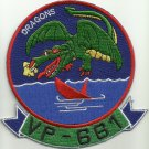 US NAVY AVIATION PATROL VP-661 DRAGONS - Patron Six Six One - Military Patch