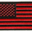 RED & BLACK AMERICAN FLAG MOTORCYCLE BIKER JACKET VEST MORALE MILITARY PATCH