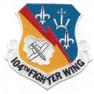 United States Air Force 104th FIGHTER WING MILITARY PATCH - USAF