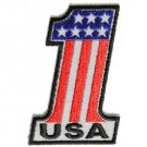 REFLECTIVE USA NUMBER 1 AMERICAN FLAG MOTORCYCLE BIKER JACKETVEST MILITARY PATCH