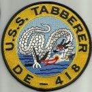 DE-418 USS TABBERER Butler-Class Destroyer Escort Military Patch DRAGON