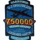 """USAF LOCKHEED MARTIN U-2 """"DRAGON LADY"""" C.I.A. 750000 FLIGHT HOURS MILITARY PATCH"""