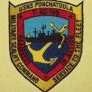 USNS PONCHATOULA ( T-AO 148 ) FLEET OILER SHIP MILITARY PATCH