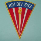 US NAVY River Division 552 PBR RIVDIV 552 Military Patch Vietnam SWORD