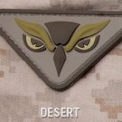 OWL HEAD DESERT OIFOEF COMBAT TACTICAL BADGE MORALE 3D PVC VELCRO MILITARY PATCH