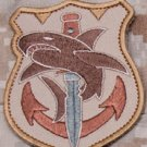 TACTICAL SHARK DESERT SPECIAL OPS TACTICAL BADGE MORALE VELCRO MILITARY PATCH