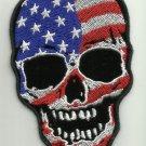 AMERICAN FLAG SKULL MOTORCYCLE JACKET LEATHER VEST MORALE BIKER MILITARY PATCH